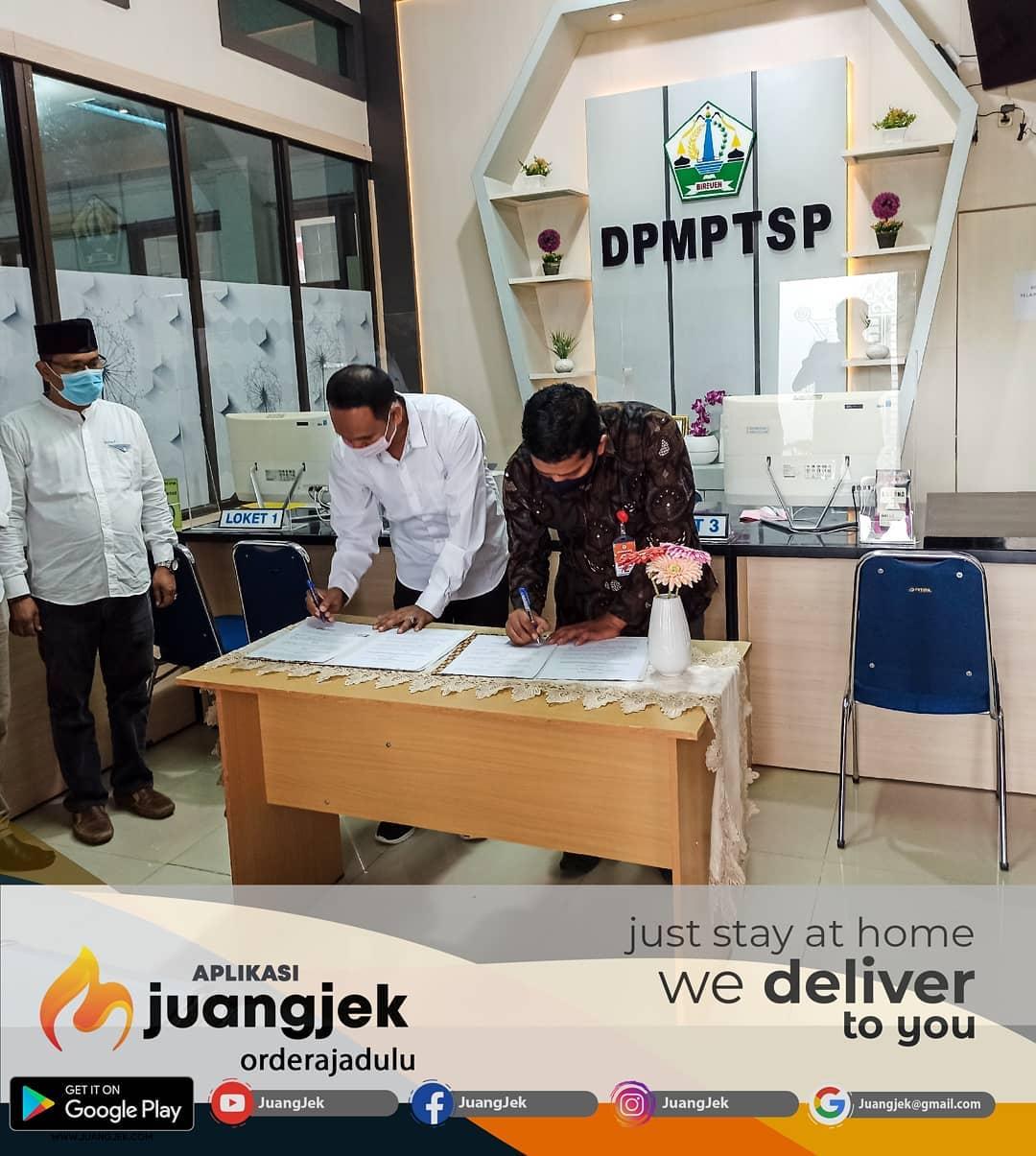 DPMPTSP Bireuen Jajaki Kerjasama dengan Juangjek